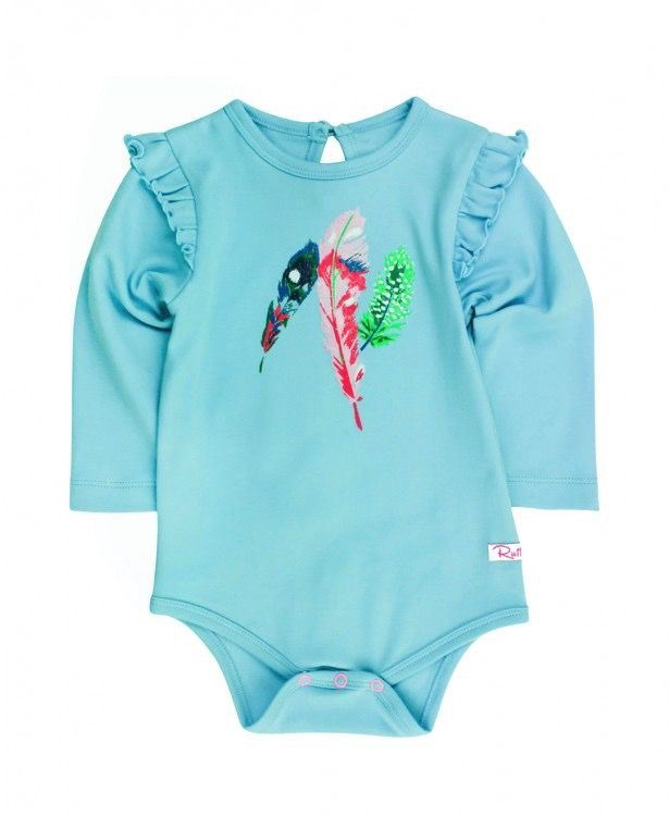 RUFFLE BUTTS Ruffle Butts Feather Flutter Body Suit