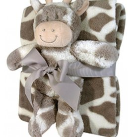 Baby Blanket/Toy Set Giraffe