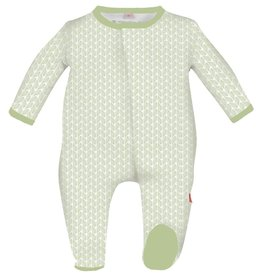 magnificent baby Magnetic Green Leaf Footie