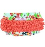 RUFFLE BUTTS Ruffle Butts Painted Flowers Bow-Front Top Set