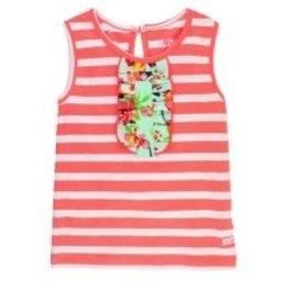 RUFFLE BUTTS Ruffle Butts Painted Flowers Stripe Tank