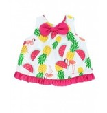 RUFFLE BUTTS Ruffle Butts Pineapple Picnic Bow-Front Swing Top Set
