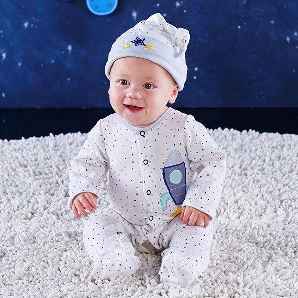 Baby Aspen Cosmo Tot Spaceship 2Pc Pajama Gift Set