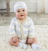 Baby Aspen Blue Stripe Cardigan And Cap