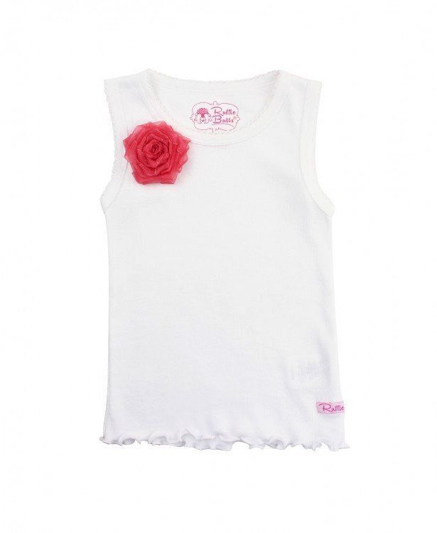 RUFFLE BUTTS Ruffle Butts Coral Flower Tank