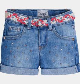 MAYORAL Mayoral Girl's Denim Shorts w. Belt