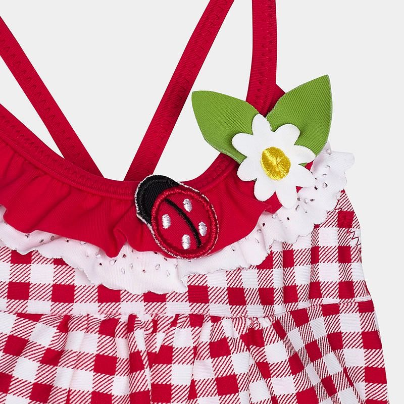 MAYORAL Mayoral Gingham Girl Swimsuit