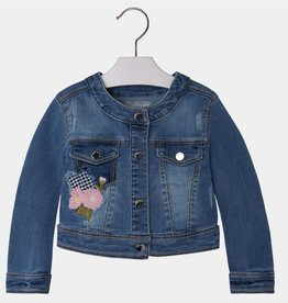 MAYORAL Embroided Denim Jacket