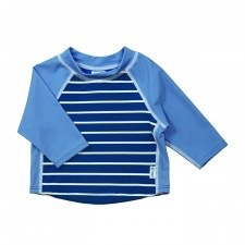 I Play I PLay  Classic Three-quater Sleeve Rashguard Shirt-Royal Stripe