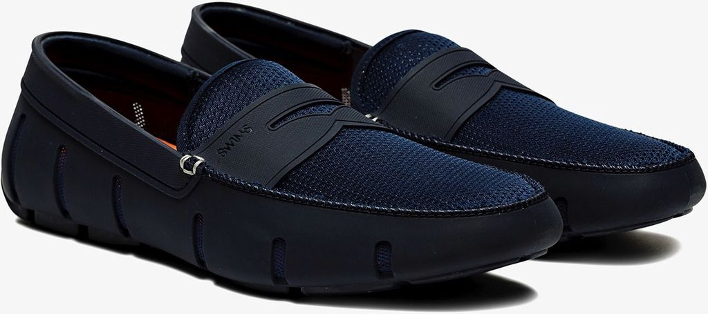 Swims Swims Navy Penny Loafers
