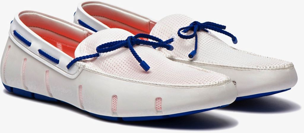 Swims Swims White Braided Lace Loafers