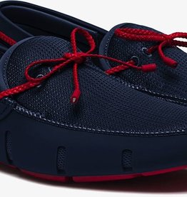 Swims Swims Navy/Red Braided Lace Loafers