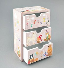 Floss & Rock Floss & Rock Woodland Animals 3 Drawer Wooden Chest