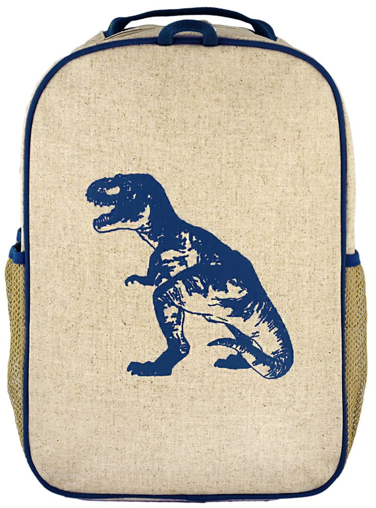 SoYoung SoYoung Blue Dino Gradeschool Backpack Raw Linen