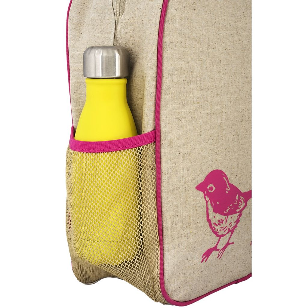 SoYoung SoYoung Pink Birds Toddler Backpack Raw Linen