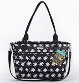 Baby Aspen Black And White Floral Diaper Bag