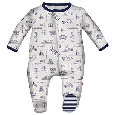 magnificent baby Magnificent Baby Magnetic Blueprint Footie