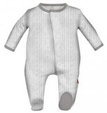 magnificent baby Magnificent Baby Magnetic Gray Herringbone Footie