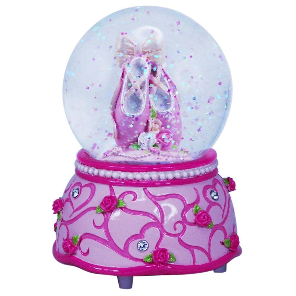 PINK POPPY Pink Poppy Ballet Musical Snow Globe