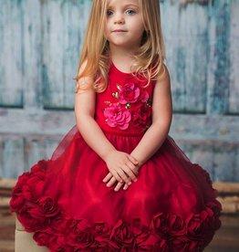 HAUTE BABY Haute Baby Ruby Sparkle Rose Dress