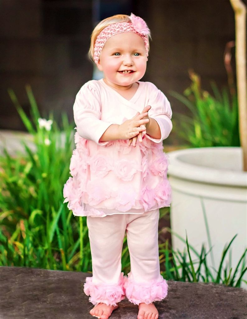 HAUTE BABY Haute Baby Emma Rose Baby Girl Legging Set