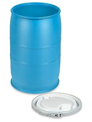 Rhino Water Container, HDPE  55 gal., Locking Lid