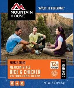 Mountain House Pouch Meals, Mexican Rice and Chicken, 3 Servings, Mountain House