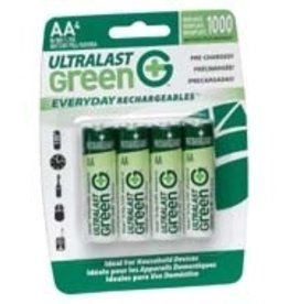 UltraLast Batteries, Rechargeable AA, 4 Pack