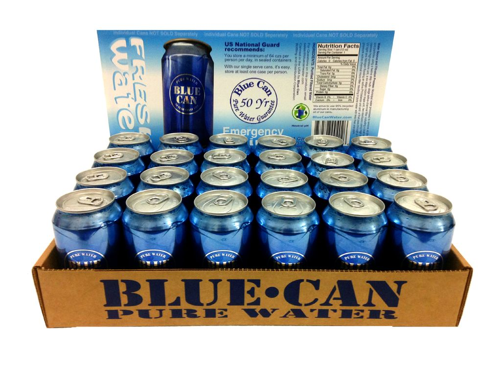 Blue Can Water Blue Can Water, Case