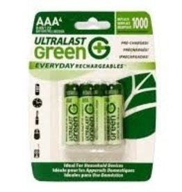 UltraLast Batteries, Rechargeable AAA, 4 Pack