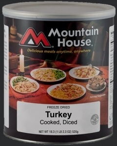 Mountain House Canned Meals, #10, Diced Turkey, Mountain House