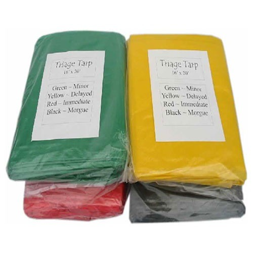 MAYDAY Triage Tarps, Set of 4