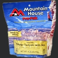 Mountain House Freeze Dried Meals, Pro-Pak Pouch, Chicken Teriaki, Mountain House
