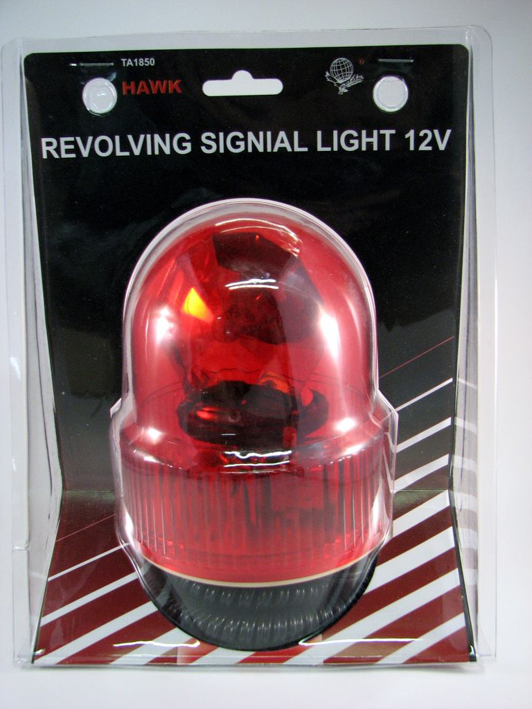 MAYDAY Emergency Light, Revolving, Plug-In