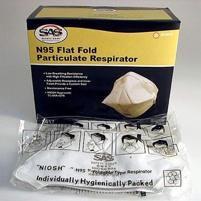MAYDAY Dust Mask, N95, Flat Fold, Box of 20