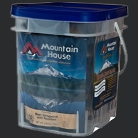 Liberty Mountain Pouch Meals, Classic Bucket - 29 Servings, Mountain House