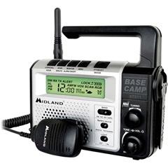 Midland Radio, Midland Base Camp GMRS / AM / FM / Weather Crank Radio