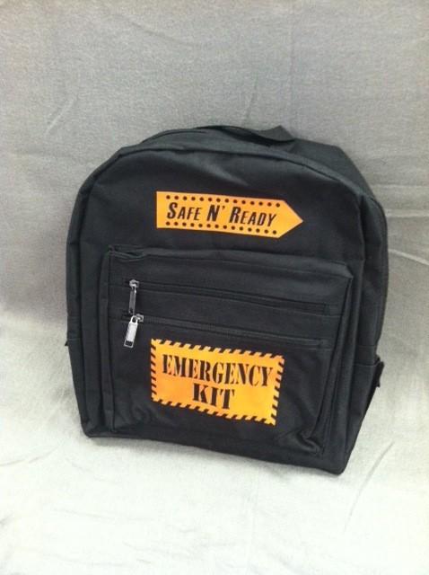 SNR BackPack, Safe N' Ready - Emergency Kit, Orange