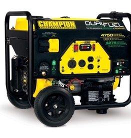 Champion Generator, 4750/3800 Watt Dual Fuel, Champion