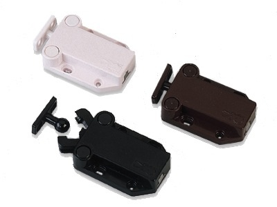 ETC Safe-T-Proof Safe-T-Proof Touch Cabinet Door Latch, Brown
