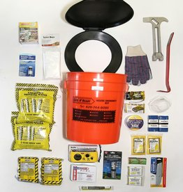 Safe N' Ready Emergency Kit, Bucket, Deluxe, 2 Person