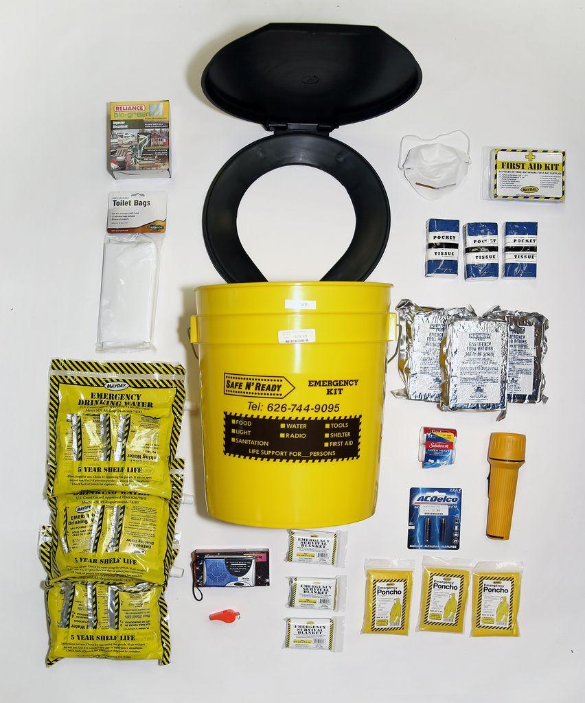 Safe N' Ready Emergency Kit, Bucket, Essential, 3 Person