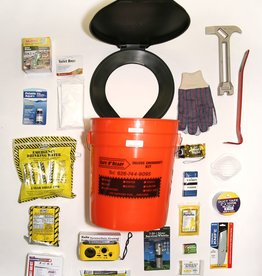 Safe N' Ready Emergency Kit, Bucket, Deluxe, 1 Person