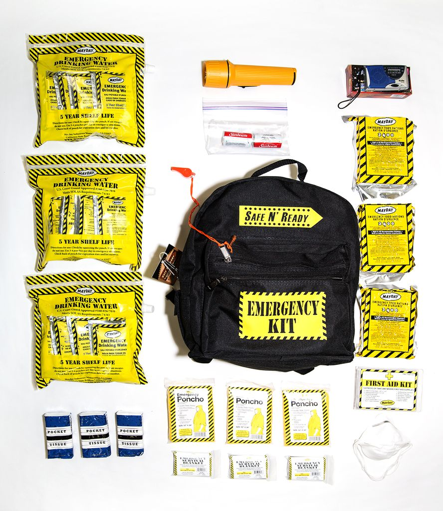 Safe N' Ready Emergency Kit, Backpack, Essential, 3 Person