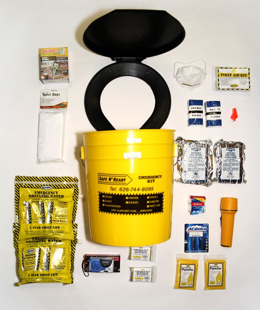 MAYDAY Emergency Kit, Bucket, Essential, 2 Person