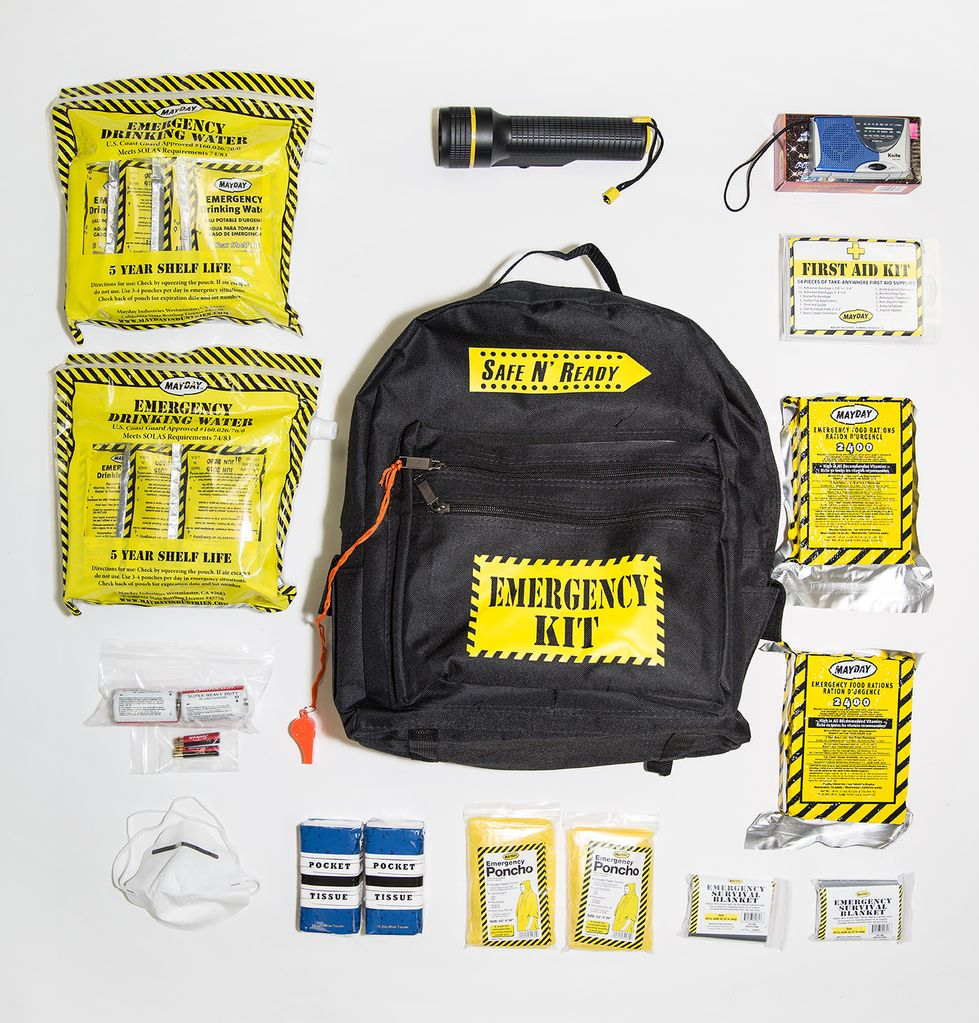 Safe N' Ready Emergency Kit, Backpack, Essential, 2 Person