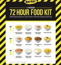 MAYDAY Emergency Meal Kit, 72 Hr., 4 Person