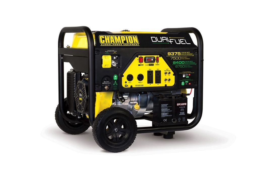 Champion Generator, Dual Fuel 7500/9375 withelectric start