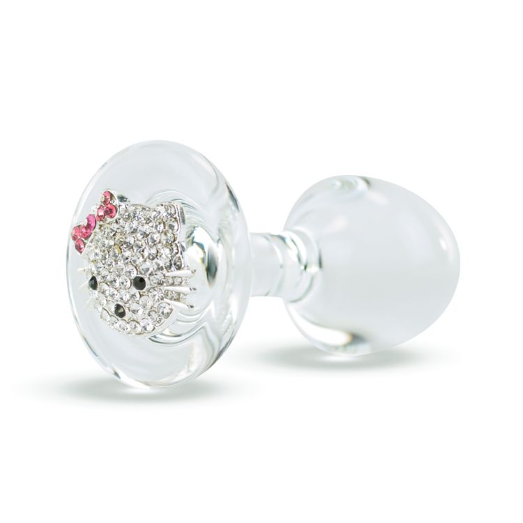 Crystal Delights CD Sm Plug w/ Kitty