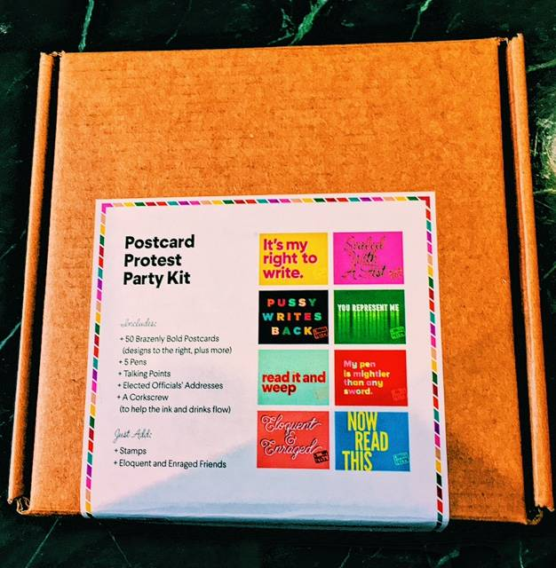 Let's Go Postal Postcard Protest Party Kit